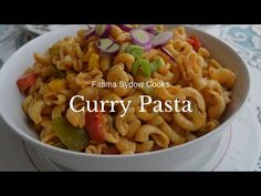 CURRY NOODLE SALAD RECIPE - YouTube Curry Noodles, Noodle Salad, My Cookbook, Salad Recipes, I Am Awesome, Salads, Pasta, Foods, Cooking
