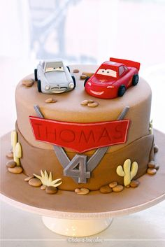 McQueen & Finn McMissile by Bake-a-boo Cakes NZ, via Flickr