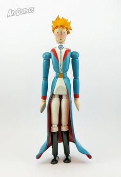 The Little Prince Art Doll - Sculpture - Articulated Wooden Figure - Unusual Art - Original Pop Art - Hand painted Character Creation, 3d Character, Ikea Paint, Mannequin Art, Unusual Art, The Little Prince, Wooden Dolls, Cultura Pop, Diy Doll