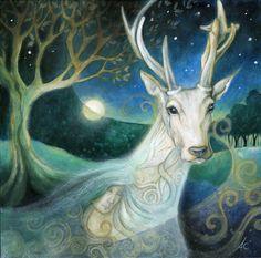 Druids Trees:  White #stag.