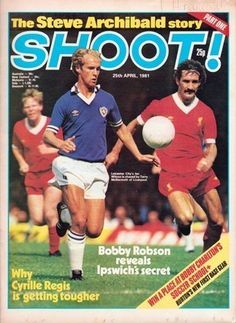 magazine in April 1981 featuring Leicester City v Liverpool on the cover. English Football League, Liverpool Fc, Leicester, Football Shirts, Old Pictures, Magazines, Soccer, Goals, Baseball Cards