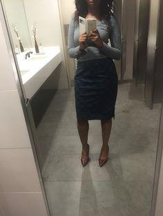 Plaid shirt and Grau shirt #officeattire