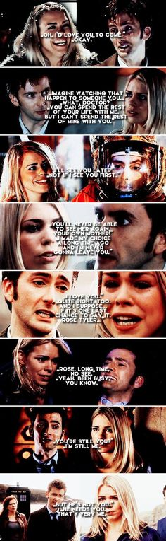The Doctor + Rose Tyler *cries* Doctor Who, 10th Doctor, Rose Tyler, Rose And The Doctor, Oki Doki, Tv Doctors, Billie Piper, Don't Blink, Torchwood