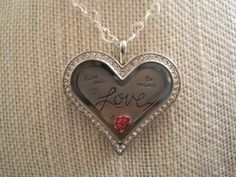 Origami Owl Valentine's Day Heart Necklace.