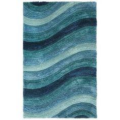 Larue Wave Shag Rug - Teal 8x10