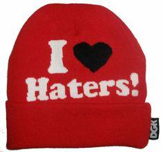 I Love Haters Beanies (1) , cheap wholesale  $5.9 - www.hatsmalls.com