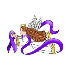 Our heavenly angel holds the most recognized symbol in the fight against fibromyalgia, sharing the purple ribbon color are suicide prevention, lupus awareness, Alzheimer's disease awareness, general cancer awareness, testicular cancer, animal cruelty/animal welfare, domestic violence awareness, drug overdose and migraine awareness; #PurpleRibbon #Awareness Angel  #FibroAngel #HealingAngel