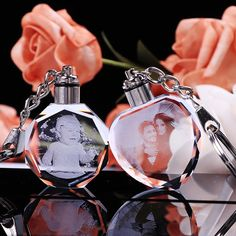 "We Can Put Your Photos In The Crystal And Turn Your ""Precious Memories"" Into Your Most Charming Souvenirs. Bestie Gifts, Gifts For Friends, Pollyanna Gift, Cute Teacher Gifts, Crystal Keychain, Sorry Gifts, Crop Pictures, Photo Engraving, 3d Photo"