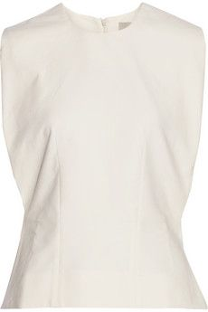 Studio Nicholson Astor cotton-blend piqué top | NET-A-PORTER