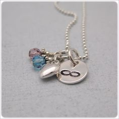 Infinity Necklace with Birthstones