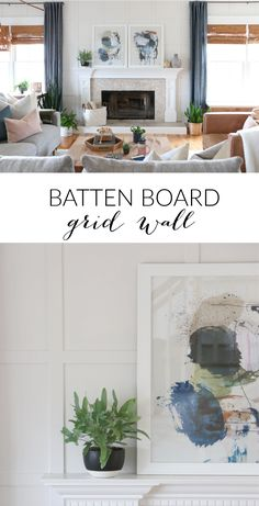 Our family room has seen many changes over the last 9 years. The latest being a batten board square grid wall that was just recently installed. City Farmhouse, French Country Farmhouse, French Country Decorating, Modern Farmhouse, Diy Wall Decor, Diy Home Decor, Bedroom Decor, Art Decor, Beautiful Interior Design