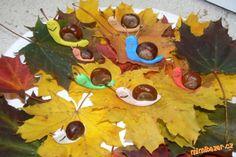 Kaštánků a krásně zbarveného podzimního lupení je všude plno,tak jsme se pustili do tvoření:-)<br>Za... Diy And Crafts, Maternity, Painting, Autumn, Fall, Painting Art, Paintings, Drawings