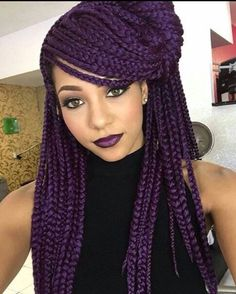 Purple And Black Braids Idea dark purple box braids braided hairstyles box braids Purple And Black Braids. Here is Purple And Black Braids Idea for you. Purple And Black Braids 91 fun yarn braid ideas that you will love sass. Purple Box Braids, Colored Box Braids, Short Box Braids, Blonde Box Braids, Jumbo Box Braids, Black Braids, Purple Hair, Long Braids, Dark Purple