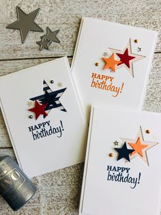 birthday card with star dies with stampin' up! Looking Up stamp set The Effective Pictures We Offer You About DIY Birthday Cards cake A quality picture can tell you many things. You can find the most Birthday Cards For Son, Homemade Birthday Cards, Masculine Birthday Cards, Birthday Beer, Birthday Sayings, Wife Birthday, Birthday Images, Birthday Greetings, Birthday Gifts
