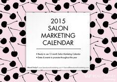2015 Salon Marketing Calendar