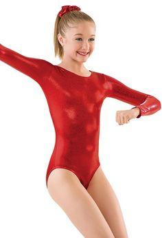 Metallic Long Sleeve Gymnastic Leotard   Balera™