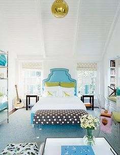 Ok, I am obsessed.  I love the polka dots with the blue, such a lovely contrast!