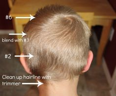 How to cut boys' hair with clippers