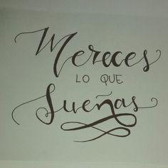 Mereces lo que sueñas ~ Gustavo Cerati #Gustavocerati #lettering #handwritting