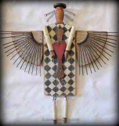Primitive Junk Angel Diy | Hometalk