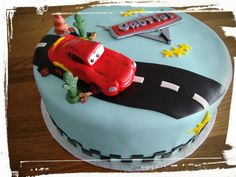 Cars inspired cake, for 1 yr old.