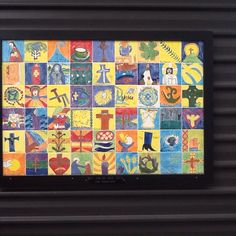 Beautiful Tiles painted by school students  Paint & Create