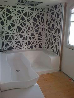 Tête de lit contemporaine tapissée en cuir pour lit double  Bedroom ...