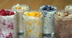 Wil je je dag echt goed beginnen? Probeer dan dit gezonde, supersnelle, havermout ontbijt. Je kunt het 's avonds al klaar maken en haalt het 's ochtends zo uit de koelkast.