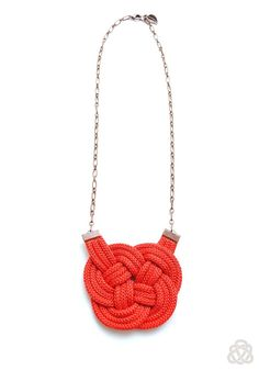 Red Knot Cord Necklace  Rope Jewelry  Knotted  by elfinadesign, $21.00