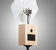 klassisches Fotobox Holz Reflexschirm