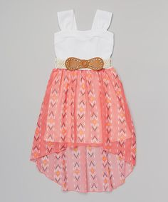 L - tell me what you think!!!  I love this! Loving this Coral Western Belted Dress on #zulily! #zulilyfinds
