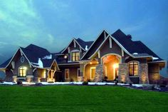 Craftsman Style House Plans - 3651 Square Foot Home , 2 Story, 5 Bedroom and 4 Bath, 4 Garage Stalls by Monster House Plans - Plan 4-261