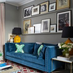 A colourful London home - transitional - Living Room - London - Turner Pocock