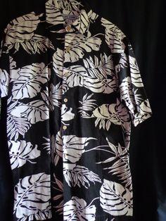 Vintage shirt Hawaiian man's black and white by vintagewayoflife