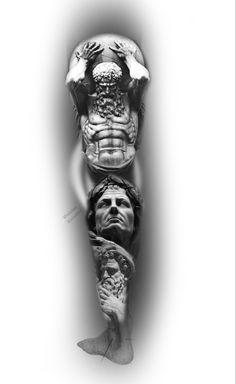 J Tattoo, Zues Tattoo, Jesus Tattoo, Leg Tattoo Men, Arm Tattoos For Guys, Dark Art Tattoo, Half Sleeve Tattoos Drawings, Realistic Tattoo Sleeve, Best Sleeve Tattoos