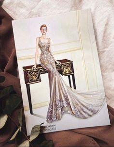 Wedding Dress Illustrations, Fashion Illustration Dresses, Fashion Illustrations, Fashion Design Drawings, Fashion Sketches, Nice Dresses, Formal Dresses, Wedding Dresses, Muslim Fashion