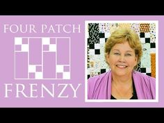 Four Patch Frenzy Quilt by Jenny Doan from #MissouriStarQuiltCo
