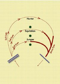 Excellent diagram of turns for each discipline.  Use Your Eye to Find a Good Distance to Fences