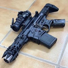 Airsoft Guns for sale at wholesale prices. Buy electric airsoft guns, gas airsoft pistols and rifles in bulk at the cheapest rates. Military Weapons, Weapons Guns, Airsoft Guns, Guns And Ammo, Tactical Guns, Tactical Survival, Ar15 Pistol, Armadura Medieval, Custom Guns