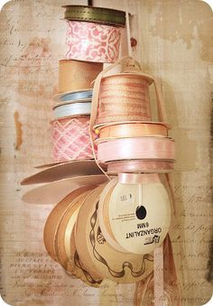 Vintage ribbon...I can't seem to get enough of it.