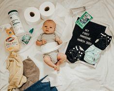 Photoshoot for coronavirus pandemic Monthly Baby Photos, Newborn Baby Photos, Baby Girl Photos, Cute Baby Pictures, Baby Boy Newborn, Monthly Pictures, Kid Photos, Military Baby Pictures, Baby Timeline