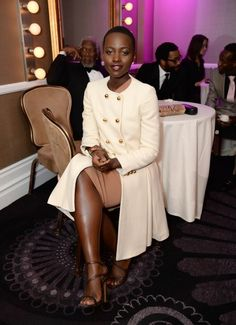 Psst…here's the coat she wore with it. | 22 Times Lupita Nyong'o Proved She's A Flawless Fashion Genius