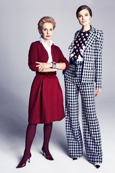 The New Girl, May 2013 (Carolina Herrera). The model looks fab but so does Carolina Herrera. Carolina Herera, Ch Carolina Herrera, Lady Like, New Girl, Girly Girl, Date Outfits, Fashion Over 50, Work Wear, What To Wear