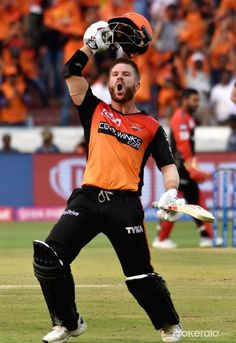 Hyderabad: Sunrisers Hyderabad's David Warner celebrates his century during the IPL 2019 match between Sunrisers Hyderabad and Royal Challengers Bangalore at Rajiv Gandhi International Stadium in Hyderabad on March (Photo: IANS) National Flag India, Ab De Villiers Photo, Mumbai Indians Ipl, Cricket Poster, Mom Dad Tattoos, Telugu Jokes, Engineers Day, Ms Dhoni Photos, Match Score