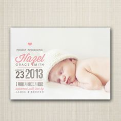 photo+baby+birth+announcement+boy+or+girl++proudly+by+westwillow,+$15.00