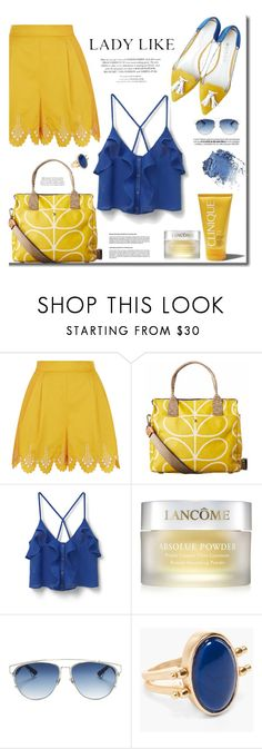 """""""Be lady like"""" by mslewis6 ❤ liked on Polyvore featuring Temperley London, Orla Kiely, MANGO, Garance Doré, Lancôme, Christian Dior and Chico's"""
