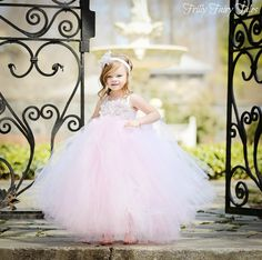 Light Pink Flower Girl Tutu Dress