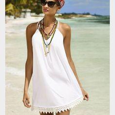 PilyQ Water Lilly Aria Dress is a swimwear cover up dress. Trendy Fashion, Fashion Outfits, Style Fashion, Trendy Style, Fashion Trends, Melissa Odabash, Beach Dresses, Swimwear Fashion, Dame