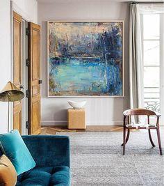Original Abstract Landscape Painting Canvas Art from CZ ART DESIGN