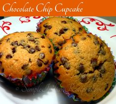 Chocolate Chip Cupcakes - An easy to prepare tasty cupcakes loaded with chocolate chips. It is perfect with a cup of milk for your kids as after school snack or for any festivals. Chocolate Chip Cupcakes, Mini Chocolate Chips, Chocolate Recipes, Eggless Pineapple Cake, Kid Cupcakes, Easy Indian Recipes, Vegetarian Chocolate, Muffin Recipes, Cake Cookies